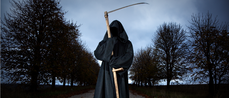 Person in grim reaper costume